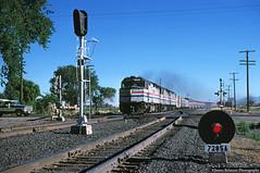 Highball Riverton! (jamesbelmont) Tags: amtrak californiazephyr emd f40ph riverton utah draper drgw riogrande passenger superliner signals grs generalrailwaysignal