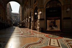 Jun 17, 2018 (pavelkhurlapov) Tags: morning restaurant arch light lamps shops architecture building cityscape shadows passage gallery