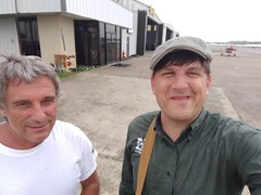 Dean and Scott GRN and ABK out on the heat of the tarmac (Gulf Restoration Network) Tags: abk grn staff