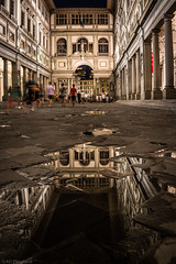 A world of mirrors (The Frustrated Photog (Anthony) ADPphotography) Tags: architecture category external florence italy museogalileo nightscenes places travel canon1585mm canon70d canon europe european firenze italian travelphotography city architecturephotography nightscene reflections puddle mirror buildings outdoor night darkness