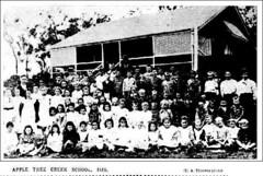 Apple Tree Creek School in Queensland - 1908 (Aussie~mobs) Tags: isis queensland australia vintage school appletreecreek 1908 students scholars pupils teacher eathrower aussiemobs