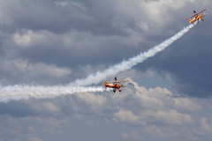 DSC_9660 copy (quintinsmith_ip) Tags: aerosuperbatics flyingcircus 'superstearmans stearmans plane formation flight smoke smoking orange white wingwalkers sunderland 2018