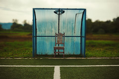 Chair for Football Judge (dejankrsmanovic) Tags: grass chair football soccer yard court field cover seat empty judge line aside green outdoor playground land concept conceptual object stilllife old obsolete nature landscape lifestyle blurry blue rural sport recreational recreation place environment abstract
