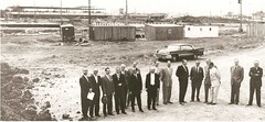 Ground Breaking at Polo Park, 1959 (vintage.winnipeg) Tags: winnipeg manitoba canada vintage history historic construction