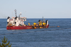 Dredging pumping barge....6O3A8919A (dklaughman) Tags: beach bethanybeach delaware barge