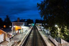 London   |   Chiswick Blue (JB_1984) Tags: station railway railwaystation evening bluehour chiswickstation platform grovepark chiswick londonboroughofhounslow london england uk unitedkingdom sony rx100iii rx100m3