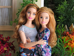 Mom and Me (back2s0ul) Tags: made move curvy yoga doll barbie babysitters inc skipper