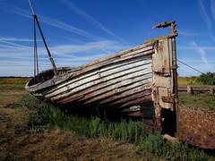 Grounded (davepickettphotographer) Tags: thornham norfolk eastern eastofengland uk england boat wrecked grounded fishing kingslynn westnorfolk