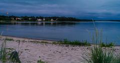 July evening (Joni Mansikka) Tags: summer nature outdoor sea sky clouds beach coast buildings sand trees silhouettes balticsea uniluoto pori suomi finland landscape