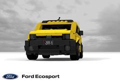 Ford Ecosport BV226 (lego911) Tags: ford ecosport b2 bv226 2004 2000s cuv crossover south america brazil auto car moc model miniland lego lego911 ldd render cad povray brazillian wagon offroad