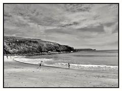 Summers Here ! (Develew) Tags: churchcove gunwalloe lizard cornwall england beach sand sea waves children cliffs clouds sky