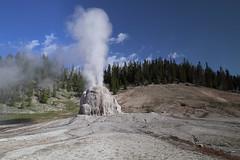Lone Star Geyser (csnyder103) Tags: geyser lonestargeyser yellowstone yellowstonenationalpark geothermal eruption canoneosm5 canonefm1122