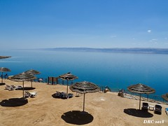 A view of the Dead Sea from The Movenpick Hotel (DRC - THANKS!! 3 Million Views) Tags: deadsea jordan movenpick hotel hot blue sunny sand middleeast