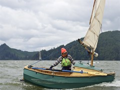Joining the main channel at Pillar Rock Upper Range Lights (Dale Simonson) Tags: astoria balancedlug boatshop boatyard boatbuilding cathlamet centreboard chart cockpit columbiariver creekcrawling gunkholeing homebuilt johnwelsford launch lugsail luna microcruiser navionics northwestmaritimecentreandwoodenboatfoundation northwestschoolofwoodenboatbuilding or pocketcruiser pocketyacht sail sailboat sailing scamp scampcamp sloughsailing smallcraftadvisor track traditionalsmallcraftassociation tsca wa welsfordscamp woodenboat woodworking