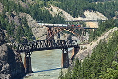 The Cisco Bridges (joeinpenticton Thank you 2.3 Million views) Tags: fraser canyon cisco bridges railroad bridge lytton cpr cp cnr cn canadian national pacicific railway rail road way train locomtive thompson river crossover cross over bank banks siska