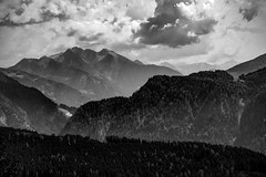 clouds (bernd.kranabetter) Tags: goldegg blackwhite nature trees mountains clouds
