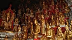 The 9000 Buddha cave (Luc1659) Tags: buddha myanmar statue oro grotta cave
