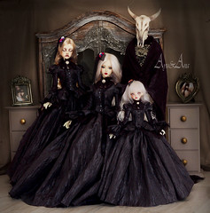 Turpism (AyuAna) Tags: bjd ball jointed doll dollfie ayuana design minidesign handmade ooak clothing clothes dress set victorian edwardian historical style fashion