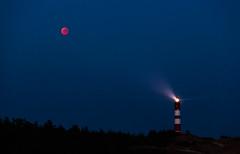Mondfinsternis 2018 - Mond, Mars & Leuchtturm (O.I.S.) Tags: mond moon blutmond mondfinsternis 2018 eclipse total amrum island germany deutschland sommer summer sky himmel süddorf canon 5d mkii 70200 f4 is l usm