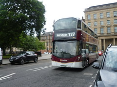 Lothian 482 starts out to East Fortune from Edinburgh. (calderwoodroy) Tags: airshow eastfortunebus service777 specialservice zoobus eclipsegemini3 wrightbus b5tl volvo sf17vnt 482 edinburghtransport transportforedinburgh eastcoastbuses lothianbuses doubledecker bus saintandrewsquare edinburgh scotland