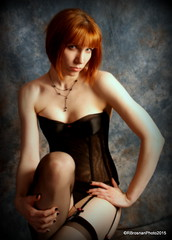 rbDSC00384-041 (rbrosphoto) Tags: lingerie pinup redhead garters stockings