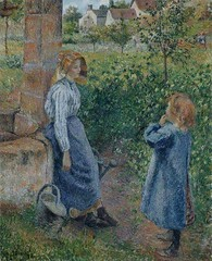 Cayetana & Caton Projects (cayetana.caton) Tags: pinterest camille pissarro cayetanacatonprojects womanandchildatthewell 1882 by french 18301903 oil canvas 815 x 664 cm 32 18 26 in © the art institute chicago illinois us