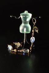 Glass Bead Bracelet on Jewellery-Mannequin (rq uk) Tags: rquk nikon d750 reflection nikond750 afsvrmicronikkor105mmf28gifed trinkets glass bead jewellerymannequin flash bracelet macromondays