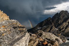 2018-07-SFS Grand Teton -0055.jpg (bratwurstgoblin) Tags: camping storm corbethighcamp nationalpark mountains grandtetonnationalpark summitforsomeone weather stormclouds rainbow tetons bigcitymountaineers sky sportsrecreation unitedstates rain northamerica wyoming location