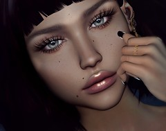 It's all about the fake (Chelsea Chaplynski ( Amity77 inworld)) Tags: swan ring eyelashes fake face avatar secondlife lookbook hud chelsea