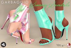 Sunny Sandals (Ashleey Andrew) Tags: garbaggio sl secondlife second life virtual world fashion apparel accessories footwear shoes original mesh shoe sandal summer neoprene vanity
