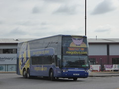Stagecoach Wales (on loan to Yorkshire) 50235 CN61 FAK on Rail Replacement, Pride Parkway, Derby (sambuses) Tags: stagecoachyorkshire megabus stagecoachwales 50235 cn61fak railreplacement