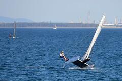800_5027 (Lox Pix) Tags: queensland qld australia catamaran trimaran hyc humpybongyachtclub winterbash loxpix foilingcatamaran foiling bramblebay sailing race regatta woodypoint boat