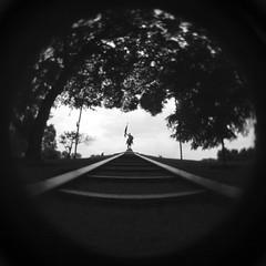 General Logan (Sean Anderson Media) Tags: grantpark chicago statue blackandwhite silhouette monochrome leadinglines staircase illinois summer sky fisheye fisheyelens lensdistortion vignette lofi lofilens plasticlens lomography wideangle park sonya7sii lomographylens lomographymicro43experimentalfisheyelens experimentalfisheyelens fotodiox mfttoemountadapter