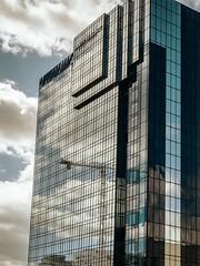 Reflections (bart7jw) Tags: birmingham hotel hyatt crane building centenary square clouds sky reflection reflected mirror g80 lumix panasonic architecture