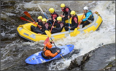 Llangollen North East Wales White Water Rafting (River Dee) 11th August 2018 (Cassini2008) Tags: whitewaterraftingllangollen whitewateractive watersports riverdeellangollenwales whitewater rafting