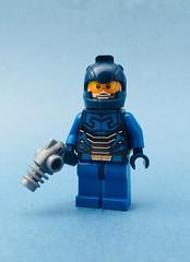 Blue Beetle - Ted Kord (Jeklarr) Tags: bluebeetle dc custom minifig purist lego