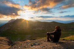 Sunset Contemplation (Gilles Bourdreux Photography) Tags: france mountain montagne mont mercantour bonette col contemplation sunset sun soleil sky landscape paysage falaise rhone alpes nikon nuages nature vallée travel voyage d610
