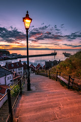 199 Steps to Whitby (Tony Emery Fotos) Tags: whitby 199 steps gothic goth dracula bram stoker sunrise abbey pier harbour seat