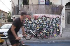Migrant zombie attack. Tel Aviv,  May 2018. (joelschalit) Tags: city politics israel telaviv streetphotography documentary middleeast streetart fujifilmx100f migrants refugees africa murals urban graffiti photojournalism zombies