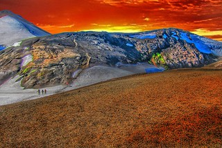 Iceland ~ Landmannalaugar Route ~  Ultramarathon is held on the route each July ~ Glazier