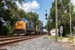 Grabbing Some MAC's (Wheelnrail) Tags: csx csxt train trains emd sd70mac railroad rail road rails troy ohio oh we signal signals bo cpl bracket siding q353 cincinnati yn2 yn3