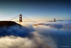 Majestic (Joseph Greco) Tags: goldengatebridge sanfrancisco skyline city bridge fog clouds sunrise span marin headlands marinheadlands