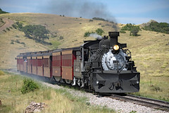 Brake Smoke (jterry618) Tags: baldwin1925 cts489 chama cumbrestoltecscenicrailroad drgw489cts489 dalton denverriograndewestern k36282 newmexico unitedstates us steamlocomotive steamengine steamtrain railroad clerestorycoachusstock cumbrestoltecscenicrr narrowgauge