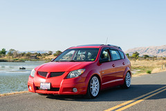 DSC_0756 (jaytotheveezy) Tags: pontiac vibe base lava red 1zz work crkai kiwami ultimate bcracing coilovers toyo tires genvibe