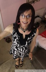June 2018 (Girly Emily) Tags: crossdresser cd tv tvchix trans transvestite transsexual tgirl tgirls convincing feminine girly cute pretty sexy transgender boytogirl mtf maletofemale xdresser gurl glasses dress tights hose hosiery indoor stilettos highheels