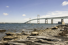 Newport Bridge (uselessbay) Tags: 2018 jamestown jr landscape newportbridge nikon nikond700 rhodeisland uselessbayphotography williamtalley afternoon coast d700 digital fullframe highsky ocean sailing sky uselessbay water unitedstates usa ngc