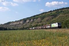 """185 389 """"DB Cargo"""" mit Mischer - 24.07.2018 - Thüngersheim (D) (Frederik L.) Tags: db bahn zug cargo güterzug maintal bahnhof lok lokomotive baureihe 185 schenker train"""