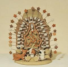 Skeleton Guadalupe Atzompa Oaxaca Mexico (Teyacapan) Tags: atzompa oaxaca pottery barro ceramics virginofguadalupe skeleton dayofthedead vilmavelascovasquez museum mexico
