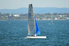 800_4661 (Lox Pix) Tags: queensland qld australia woodypoint hyc humpybongyachtclub winterbash foiling foilingcatamaran catamaran trimaran loxpix bramblebay boats