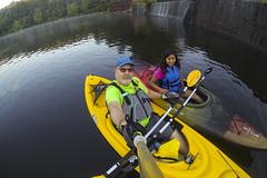 Jazmin and I enjoying an early morning kayaking trip. (bmwrider) Tags: kayak arkansasriver gopro
